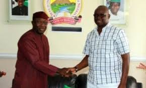 download 53 - See drama as Fayose, Fayemi embrace each other in public