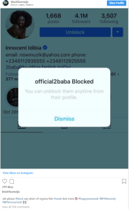face - [Photo]: No Sign Of Slowing Down – Black Face Blocks Tuface On Social Media