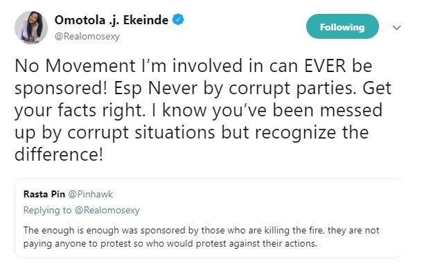 Omotola talks morality