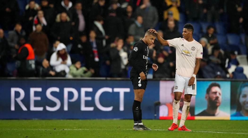 "rashford and mbappe 1200 - ""I haven't been able to sleep, since loss to Man United""- Mbappe"