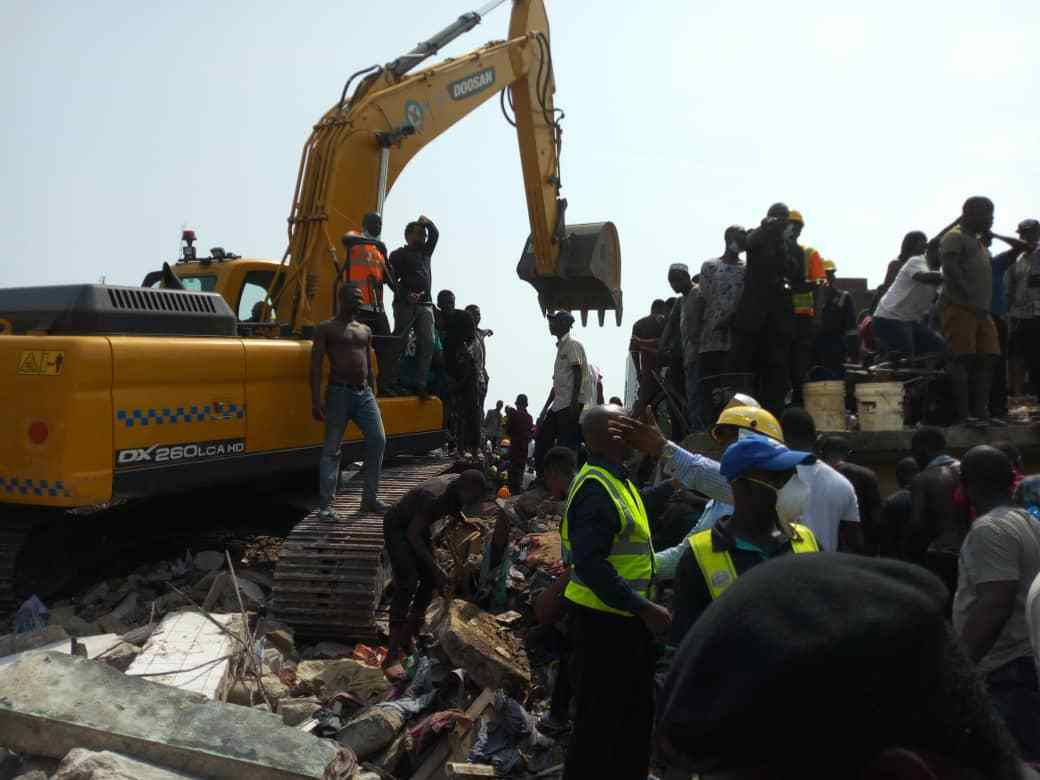 rubble - 'The Heat Under The Rubble Was Too Much' – Survivor Of Lagos Collapsed Building