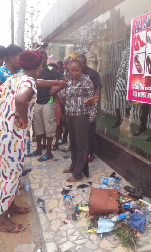 [Photos] Nasarawa Polytechnic Female Student Strips After Running Mad In Lagos