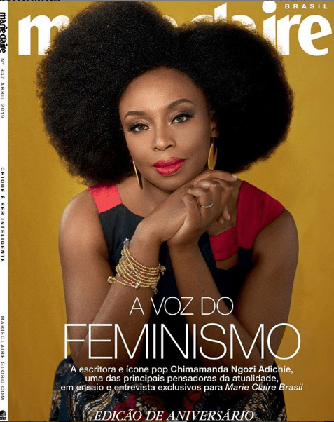 1 11 - Chimamanda Adichie covers latest issue of Marie Claire
