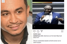 See what Daddy Freeze just did to a Pastor who preached that women can wear trousers