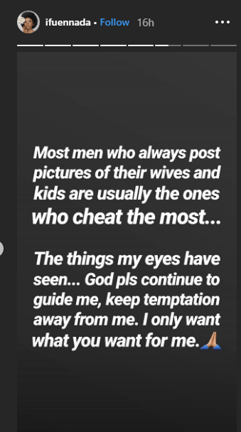 1 60 - 'Men who post photos of their wives cheat more' – Ifu Ennada