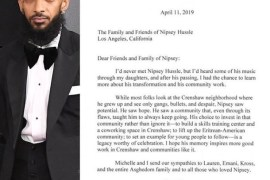 Barrack Obama's tribute to Nipsey Hussle is a must read