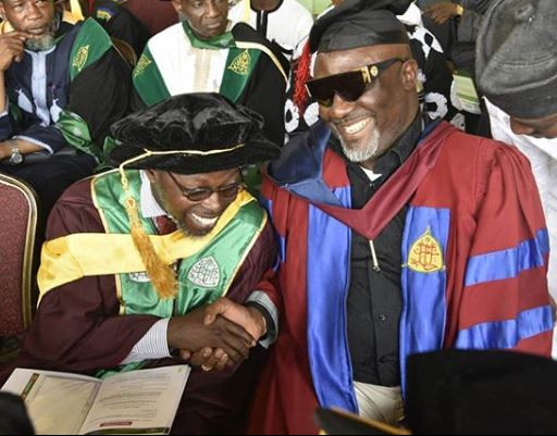 3 4 - [Photos]: Aliko Dangote supports Senator Dino Melaye's at his convocation