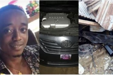 'Call it alcohol or dodging from witches' – Young boy writes as he crashes brand new car 24hrs after buying it
