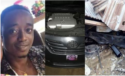 5cb97cd28168e - 'Call it alcohol or dodging from witches' – Young boy writes as he crashes brand new car 24hrs after buying it