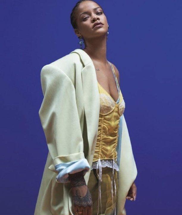 [Photos]: Rihanna slays in cornrows as she covers Vogue magazine
