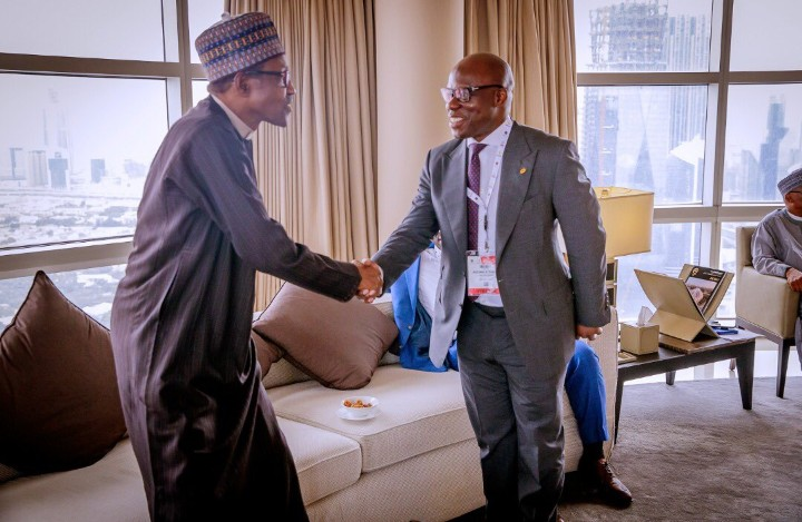 9140540 screenshot20190408131212 jpegf2ccafcf622fa66d1f53c58b2b401698 - [See Pictures] President Buhari 'chilling' with world leaders in Dubai