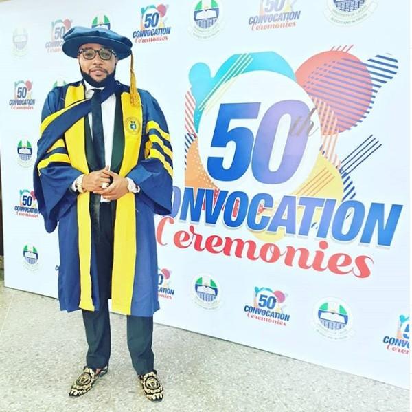 9164881 hyu jpegd621b2e95ca7e5b4d74c3f21a931af3a - Five Star Music Reveals Where E-Money Got His Honourary Doctorate Degree