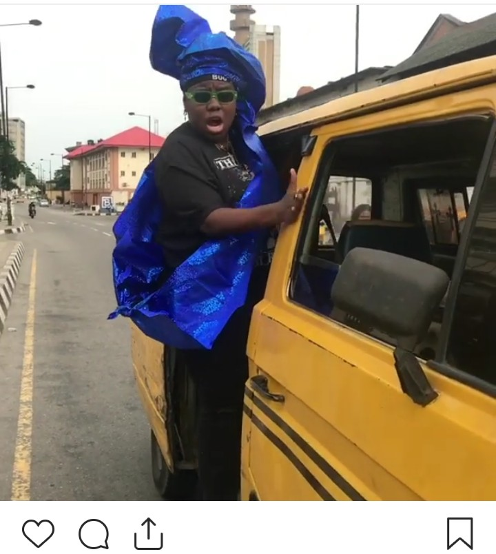 9222765 img20190420164759261 jpegff2ed76f37e154d5a7f21a8a76e97759 - [Pictures] Singer Teni Seen on Yellow Bus in Lagos