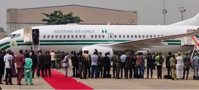 9246073 buhari jpeg124530d5bd433c751b175a8e21349689 - President Buhari Arrives Lagos Ahead of Projects Commissioning [Pictures]