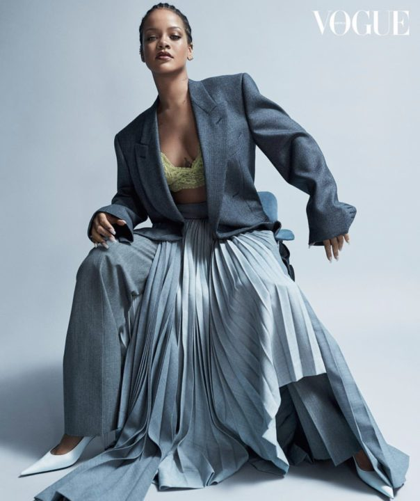 BD55D07B CC5D 45D8 B9D0 EC168F22F60B - [Photos]: Rihanna slays in cornrows as she covers Vogue magazine