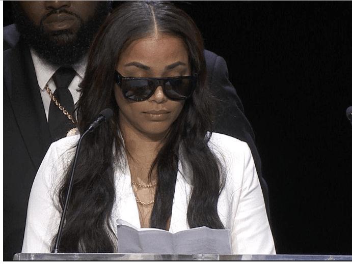 Capture 43 - [Video]: Watch Lauren London's emotional tribute to her man Nipsey Hussle at his memorial