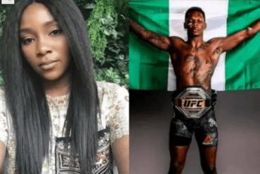 Genevieve Nnaj congratulates Nigerian UFC champion  Israel Adesanya