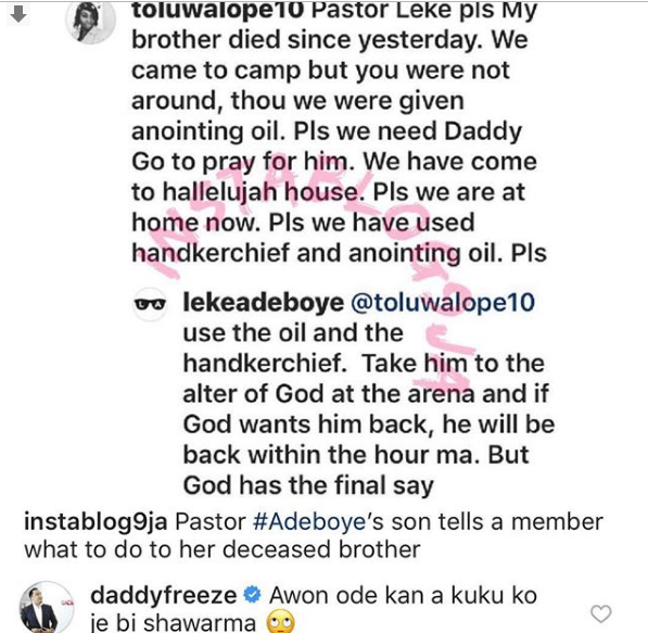 Capture 73 - 'God is not with Pastor Adeboye and his son – Daddy Freeze