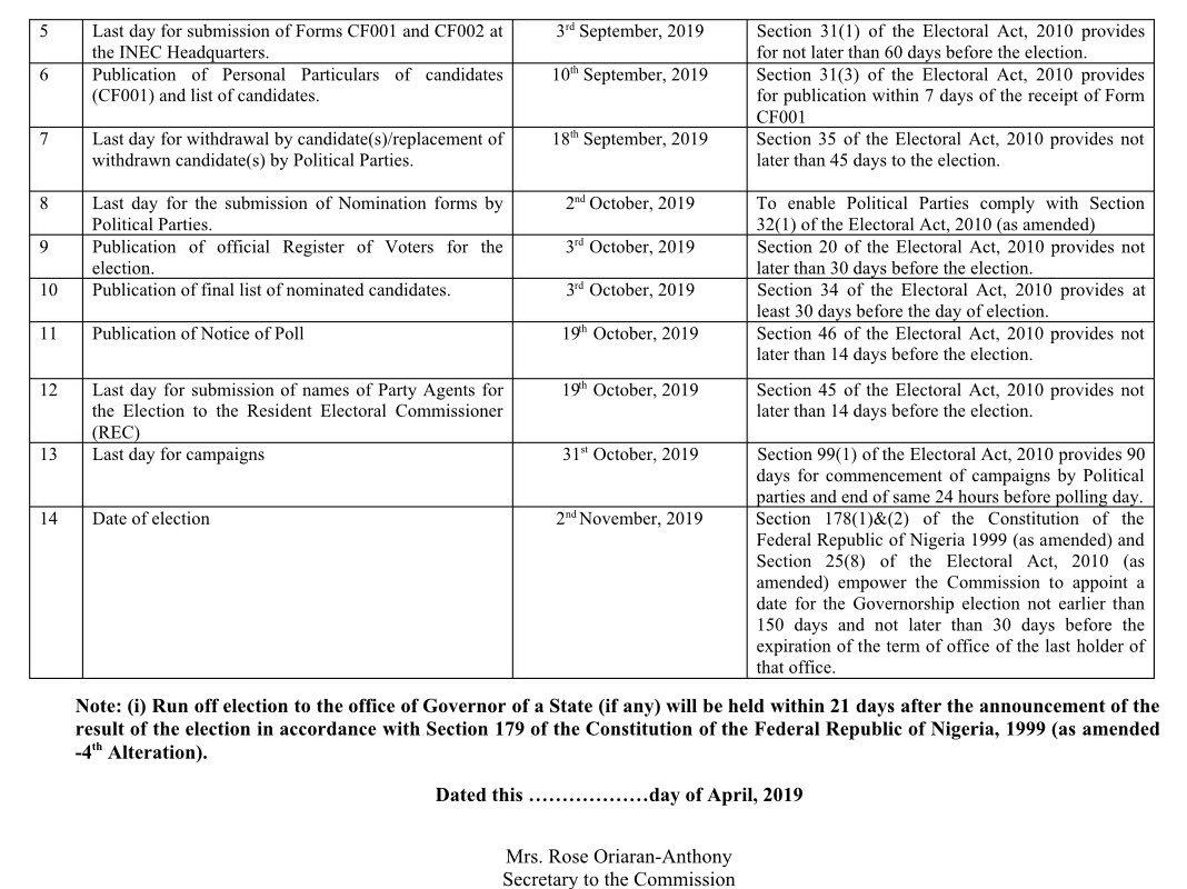 D3vL EJWkAEluGy - #ELECTION2019: INEC Fix Date for Kogi Gubernatorial Election
