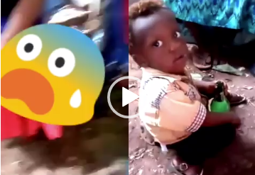 [Video]: Nigerian Woman Cries Out Over Her 3-Year-Old Son's Beer Addiction