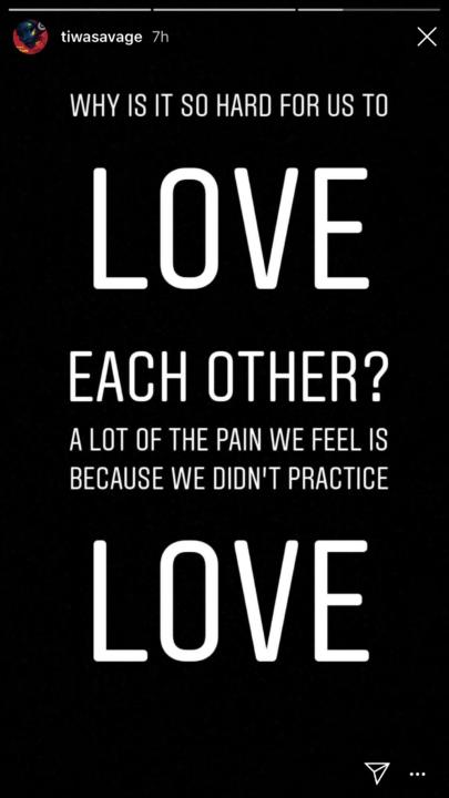 Why is it hard for us to love each other Tiwa Savage unclesuru 1 - Hot! Tiwa Savage Finally Responds to Victoria Kimani and Seyi Shay