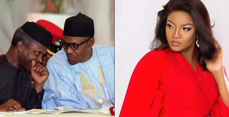 Social media drags Omotola Jalade through the gutter for criticising Buhari and Osinbajo