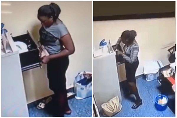 m 1 - [Video]: CCTV exposes Yabatech student as she stole N500k from her boss