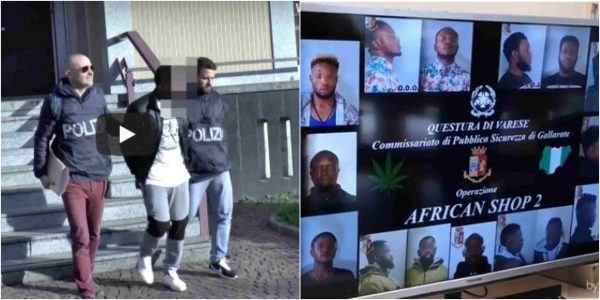 p 1 - Italian police arrest 10 Nigerian drug dealers