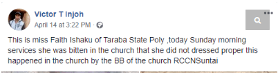 """traba - [Photo]: Lady """"Allegedly""""Beaten Mercilessly By Church Officials For Not Dressing Properly To Church"""