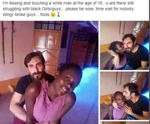 white 2 - 'I'm Kissing And Touching A White Man At 18' – Girl Brags As She Slams Those Dating Broke Black Stingy Guys