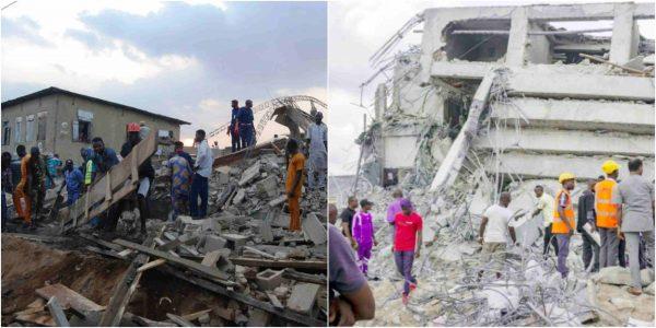 1 1 - Ibadan: 8 people injured as two-storey building collapses