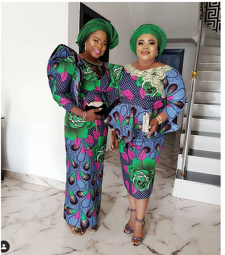 2 6 - Mide Martins, Mercy Aigbe, attend the burial ceremony of Biodun Okeowo's mum
