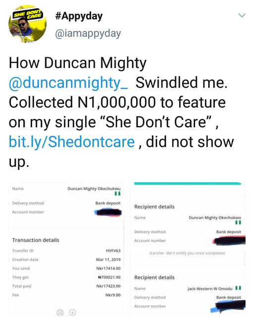 4 1 - Norway-based Artist, Appyday Reveals How Duncan Mighty Swindled Him of 1Million Naira