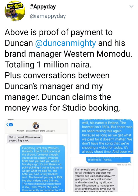 5 - Norway-based Artist, Appyday Reveals How Duncan Mighty Swindled Him of 1Million Naira