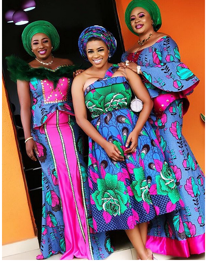6 2 - Mide Martins, Mercy Aigbe, attend the burial ceremony of Biodun Okeowo's mum