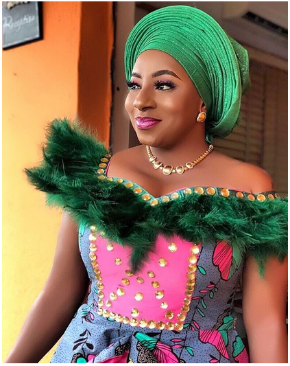 7 2 - Mide Martins, Mercy Aigbe, attend the burial ceremony of Biodun Okeowo's mum