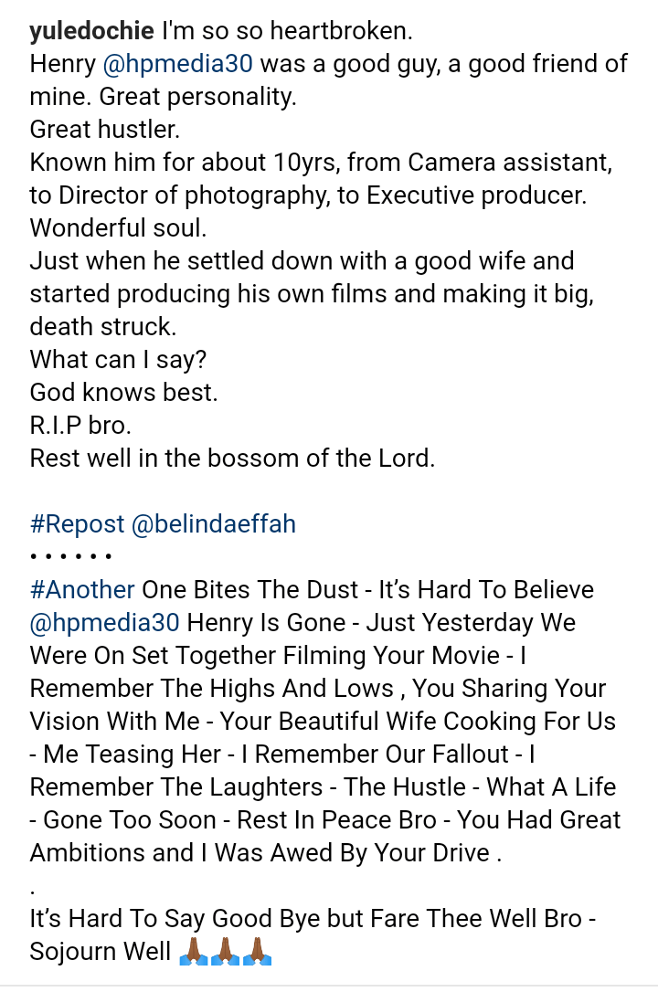 9366995 screenshot20190511040618 pngc49949d0524e7d67a2b7d81fb37c3ee5 - Nollywood Director, Mr Henry is Dead