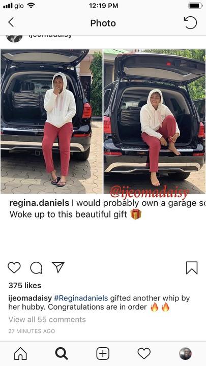 9398013 aebb43e58b6a40939165b89c94aa53e6 jpeg4b34f8a58a78b17cdaf1059865c315f6 - Wow! Regina Daniels Gets Brand New Mercedes As Gift