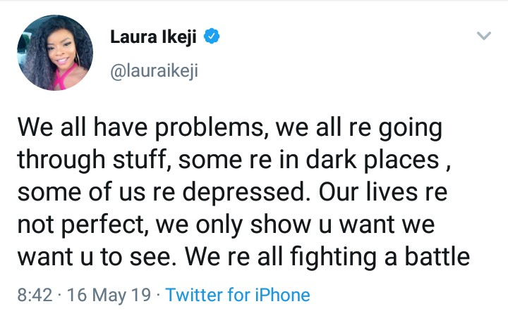 9406973 img20190516133256583 jpeg22a8eac251184850d93b61bbcf62a8ca - 'Mental Health Is Real' – Laura Ikeji Advise Fans
