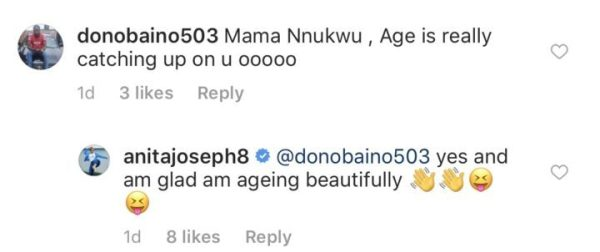 DE568B1F AA34 4533 8A0F 015495FDB115 - Between Anita Joseph and a troll who said age is catching up on her