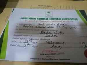 dn2 - Just In: Regina Daniels Alleged Husband Receives Certificate Of Return Without Contesting For Post(Photos)