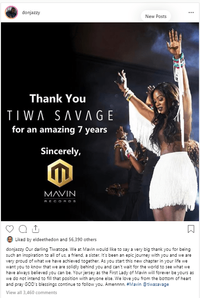 micha - Don Jazzy Makes First Statement After Tiwa Savage Quit Marvins Record
