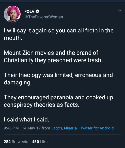 mike - 'Mount Zion Movies And The Brand Of Christianity Are Trash' – Twitter User Blasts Mike Bamiloye's Son