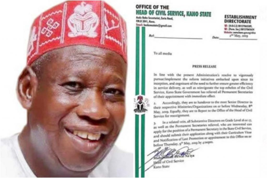 z 1 - Kano State: All permanent secretaries in the state sacked!