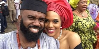"""I'm proudly Igbo""- Noble Igwe Shares Lovely Photo With Wife, Chioma"
