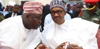 Former Governor Ambode and President Buhari