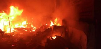 Ojodu Market On Fire