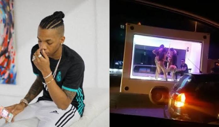 Tekno and the half-naked ladies