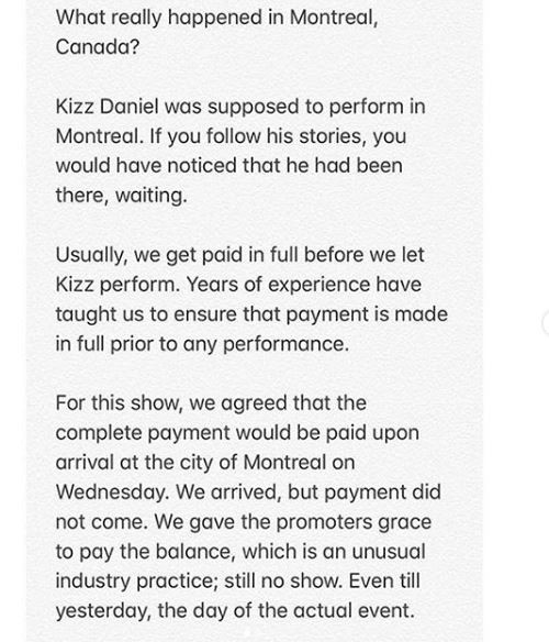 Kizz Daniel Finally Reveals His Reason For Not Performing In Canada