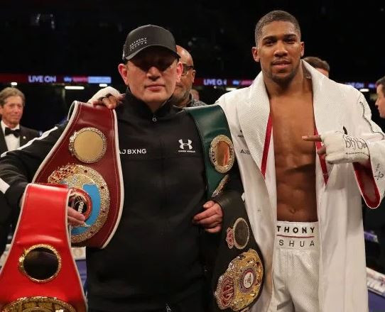 Anthony Joshua Finally Responds To Those Asking Him To Sack His Trainer